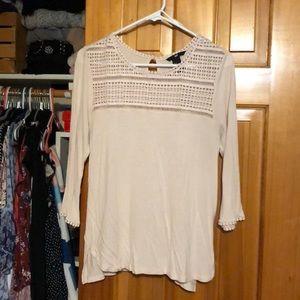 Light pink 3/4 sleeve blouse